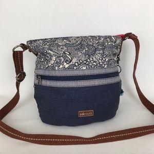 Sakroots Blue And Cream Crossbody Bag